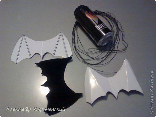 Мастер-класс Поделки электрические Моделирование конструирование Алюминиевые банки Летучая мышь  фото 2