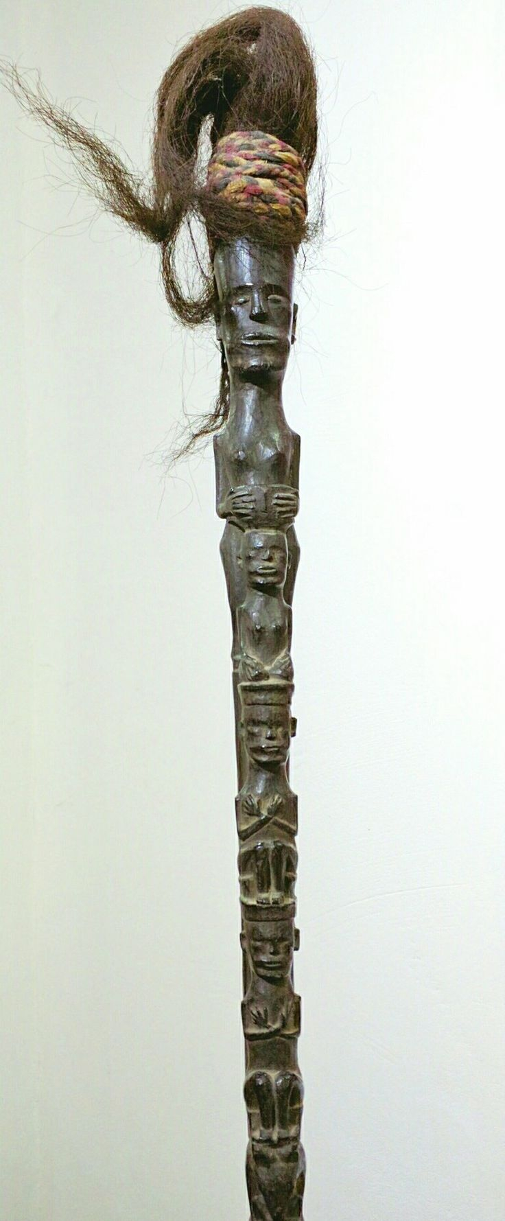Shaman staff from the Batak people of North Sumatra, Indonesia. Tunggal Panaluan #batak #indonesianart www.kulukgallery.com