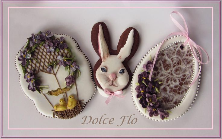 Easter chicks, bunny, Easter egg cookie set by Dolce Flo
