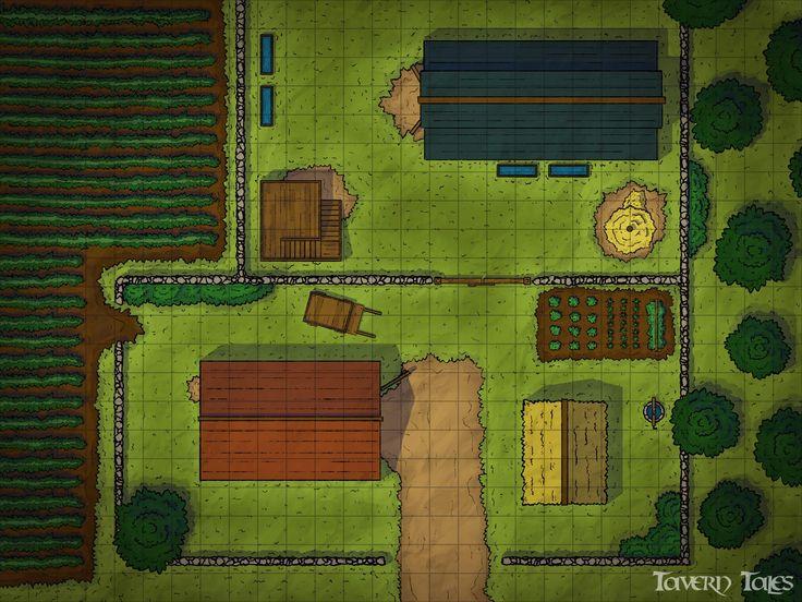 Small Farm dndmaps Tabletop rpg maps, Dungeon maps