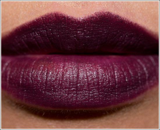 MAC Smoked Purple Lipstick Review, Photos, Swatches