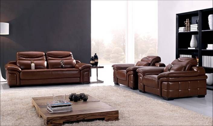 Free Shipping Sofa Free Shipping  Large Size new genuine Leather modern sectional sofa set, 1+2+3 Chair Love Seat & sofa set