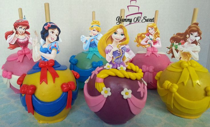 Princess Candy apples by YummyNSweet on Etsy