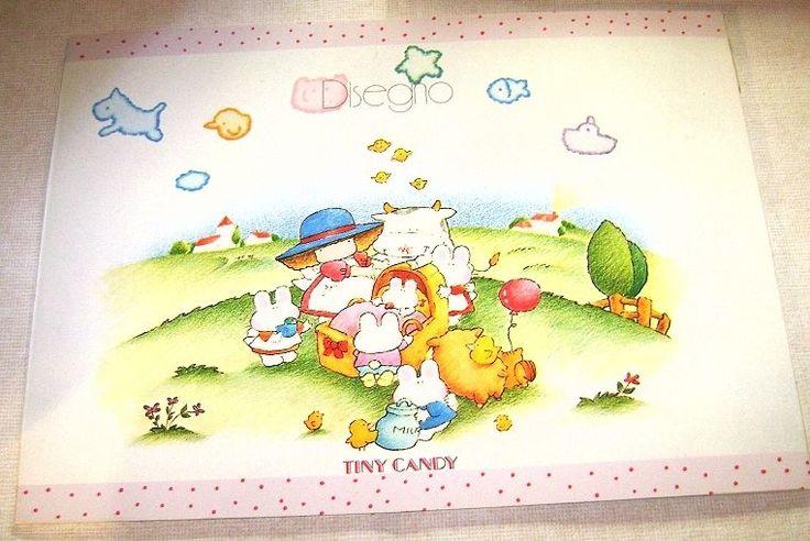 TINY CANDY 80s Gakken Mondadori italy maxi painting album - album disegno grande