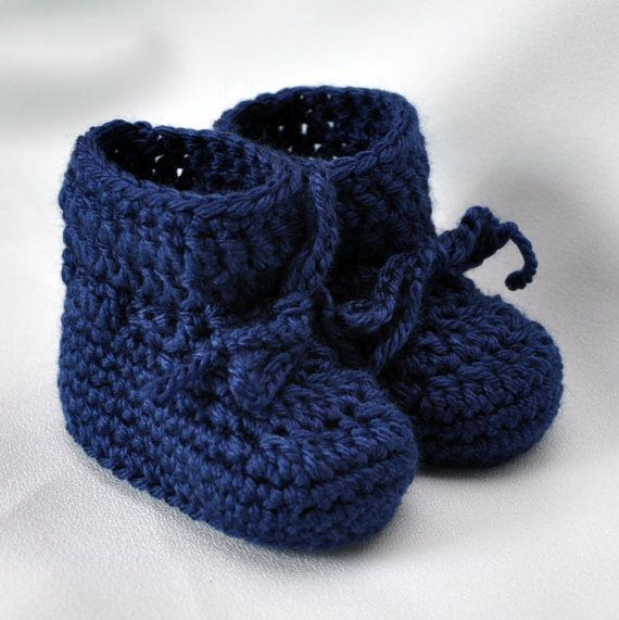 Easy Crochet Booties easy baby booties crochet pattern ...