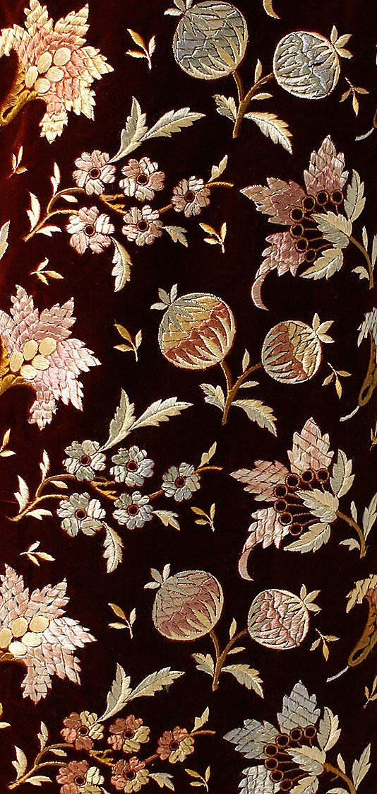 "Dress  Ca. 1858 Silk Dress Fabric. Label ""Mme. Dellac/23 West 24th Street 23/New York."""