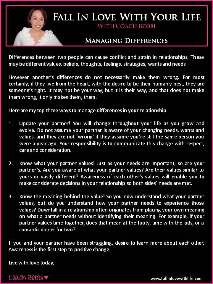 Managing Differences  © Ask Coach Bobbi
