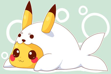 pictures of pokemon outfits | pikachu pokemon cute kawaii seal costume cosplay