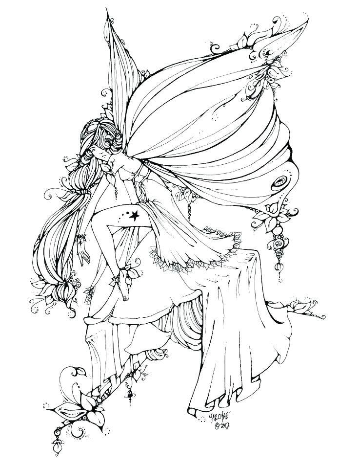 Fairy Coloring Pages For Adults Fairy Coloring Pages Flower