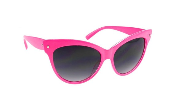 Vintage Cat Eye Sunglasses Hot Pink Cateyes Deadstock by sunnyspex