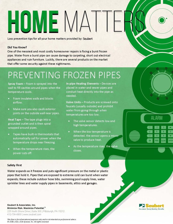 Home matters preventing frozen pipes mold prevention