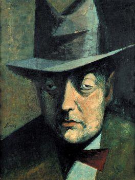 František Tichý - Portrait of a man (1944) #painting  #art #Czechia