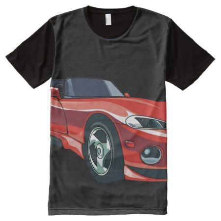 Red Sports Car All-Over-Print T-Shirt - tap, personalize, buy right now!