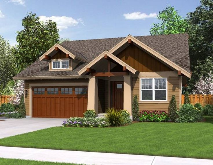 Best Time To Paint Images On Pinterest Brown Roofs - Contemporary craftsman ranch house plan