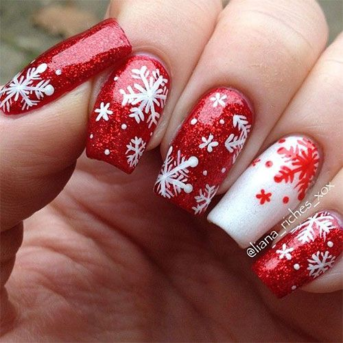 12 Best Images About Christmas Snowflake Acrylic Nail Art