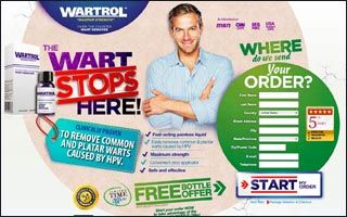 Wartrol is clinically proven and uses FDA approved ingredients to remove common and plantar warts caused by HPV. Wartrol is a fast acting, painless liquid that comes in a convenient drop applicator. Warts are caused by the Human Papilloma Virus (HPV), which entered your body through tiny cuts, breaks or other vulnerable sites on the skin. These warts often develop pressure points and can be painful and unsightly.
