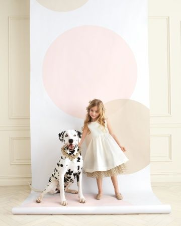 blush & nude confetti dot backdrop