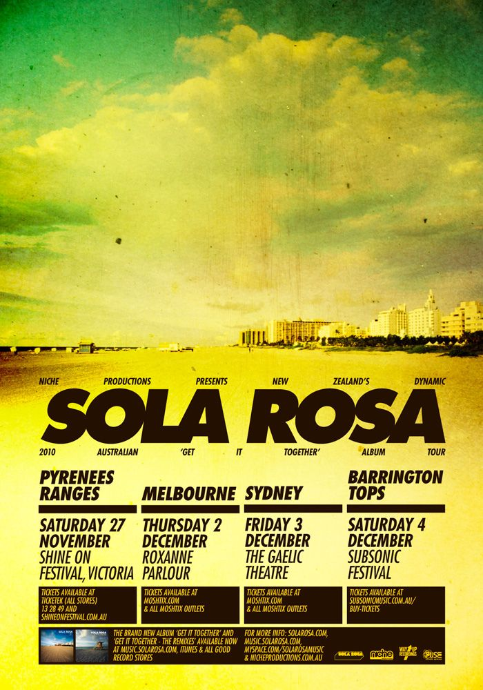 https://flic.kr/p/8Jo1ti | Get It Together - Australian Tour Poster