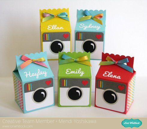 Instagram Inspired Birthday Treat boxes by Mendi Yoshikawa