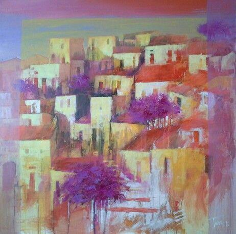 Paesaggio astratto 100x120 Luigi Torre painter 2016