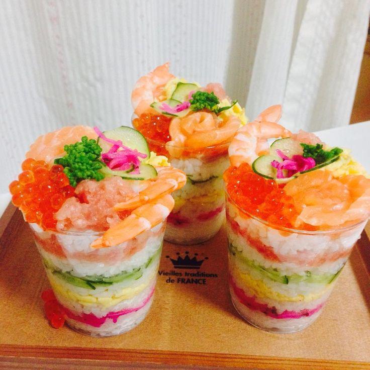 パーティーにもぴったり!簡単かわいい「カップ寿司」で家族時間を楽しもう | おうちごはん