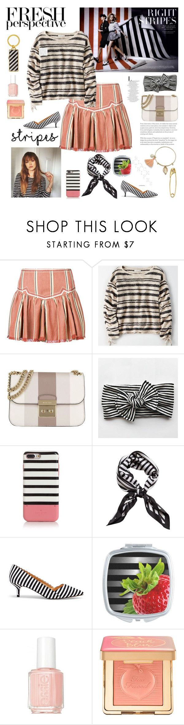 """Senza titolo #6949"" by waikiki24 ❤ liked on Polyvore featuring Étoile Isabel Marant, American Eagle Outfitters, MICHAEL Michael Kors, Kate Spade, MANGO, Sole Society, Essie, Too Faced Cosmetics, Diamond Star and stripesonstripes"