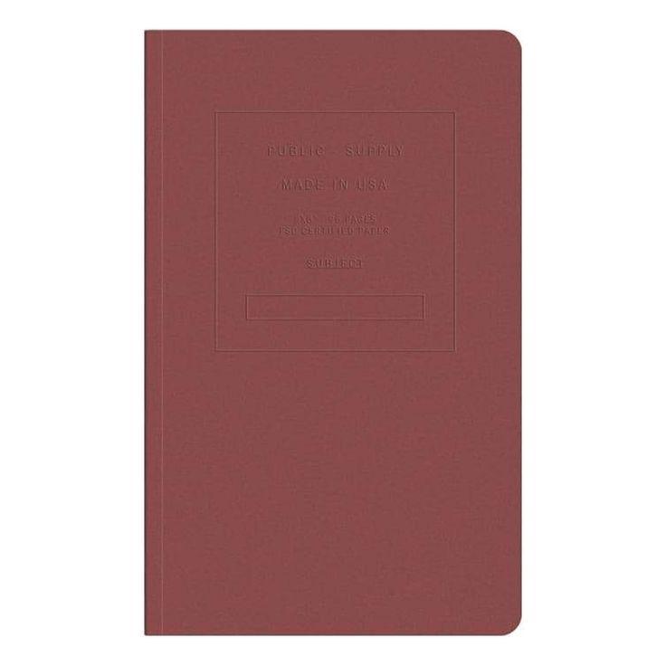 Embossed Dot Grid Notebook- Red Brick
