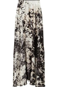 Just Cavalli-printed maxi skirt black and white