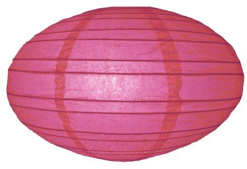 """16"""" Fuchsia Saturn Paper Lantern by Asian Import Store, Inc.. $4.50. (All lanterns sold without lighting, lighting kits must be purchased separately). Dimensions: 16"""" dia x 9""""H. This Saturn paper lantern has a unique UFO shape.. Lantern is held open with a wire expander.. This Saturn paper lantern has a unique UFO shape. Lantern is held open with a """"C"""" hook expander.  Dimensions: 16"""" dia x 9""""H  (All lanterns sold without lighting, lighting kits must be purchased s..."""