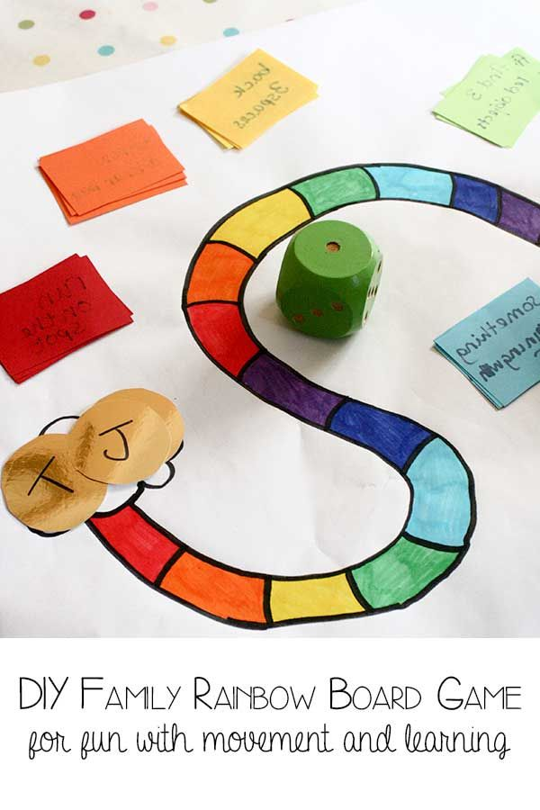 Create your own Rainbow Game and adapt it for your family quickly and easy.