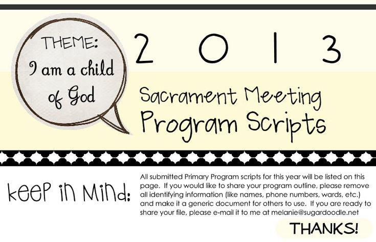 2013 Primary Program Scripts