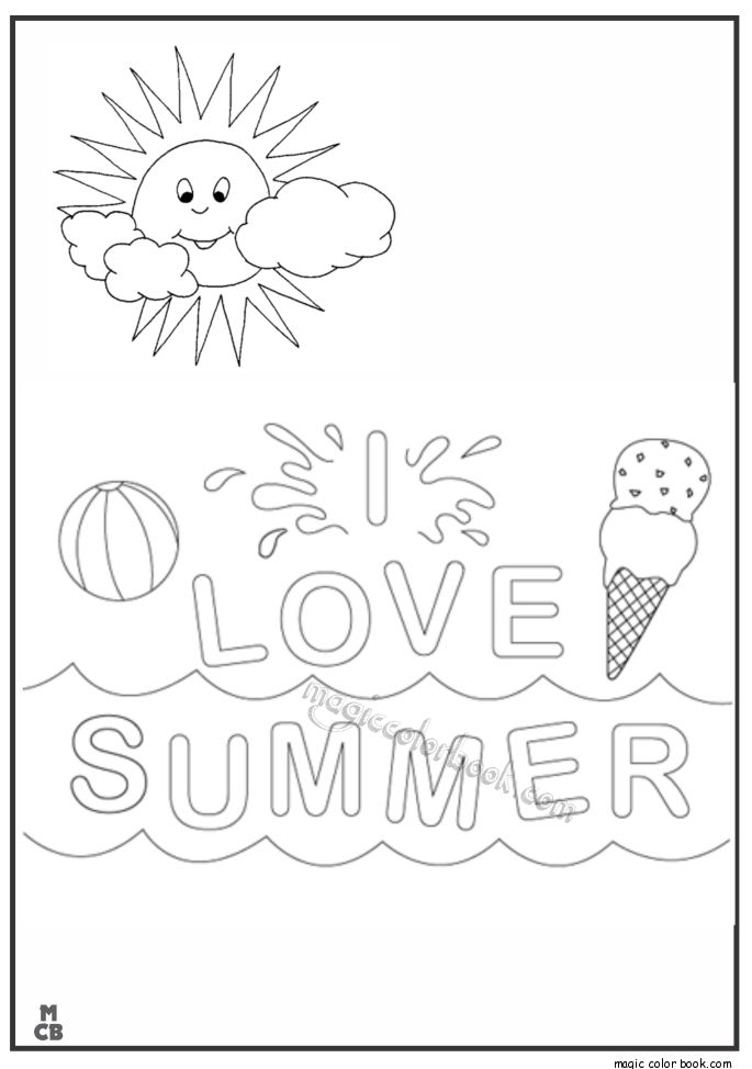 26 best Summer Coloring pages free online images on Pinterest ...