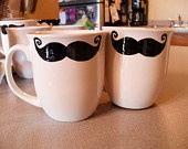My 'stache mugs! $15.00 for two!