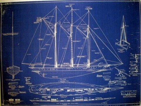 650 best images about schooner yacht on pinterest yacht for Old blueprints for sale