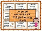 Language Warm-Ups #4: Multiple Meaning Words / Homophones