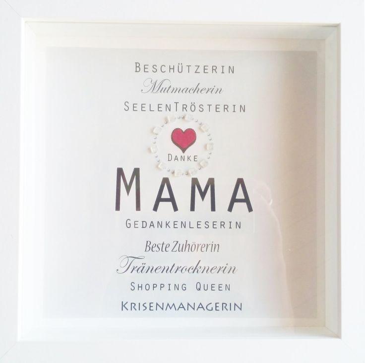 Muttertag, Weihnachtsgeschenk Mama, Beste Mama, Danke Mama, Wandbild, Wandeko, personalisierbar