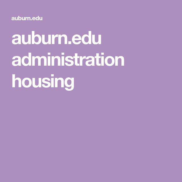 auburn.edu administration housing