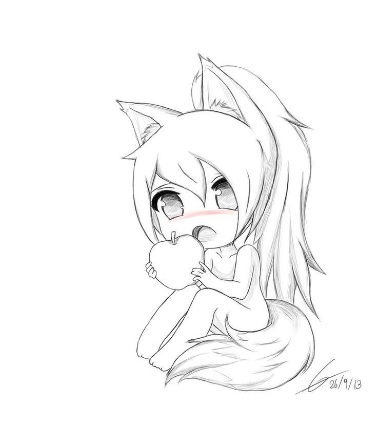 chibi fox drawing drawings anime cute sketch deviantart owo coloring pages easy base google kawaii sketches getdrawings manga elf foxes