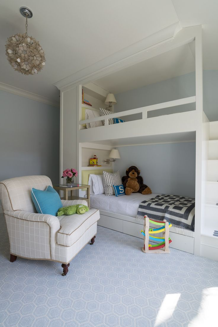 Modern bunk room matched with fabulous light