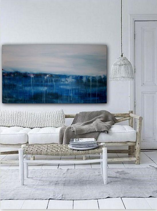 "ARTFINDER: Ocean drift No4 by dimitris pavlopoulos - Acrylic Abstract Painting, Original artwork created by dimitris pavlopoulos. Size: width:47.2 "" (120cm) x Height: 27.6"" (70cm) deep: 0.7'' (1.8cm)   You w..."