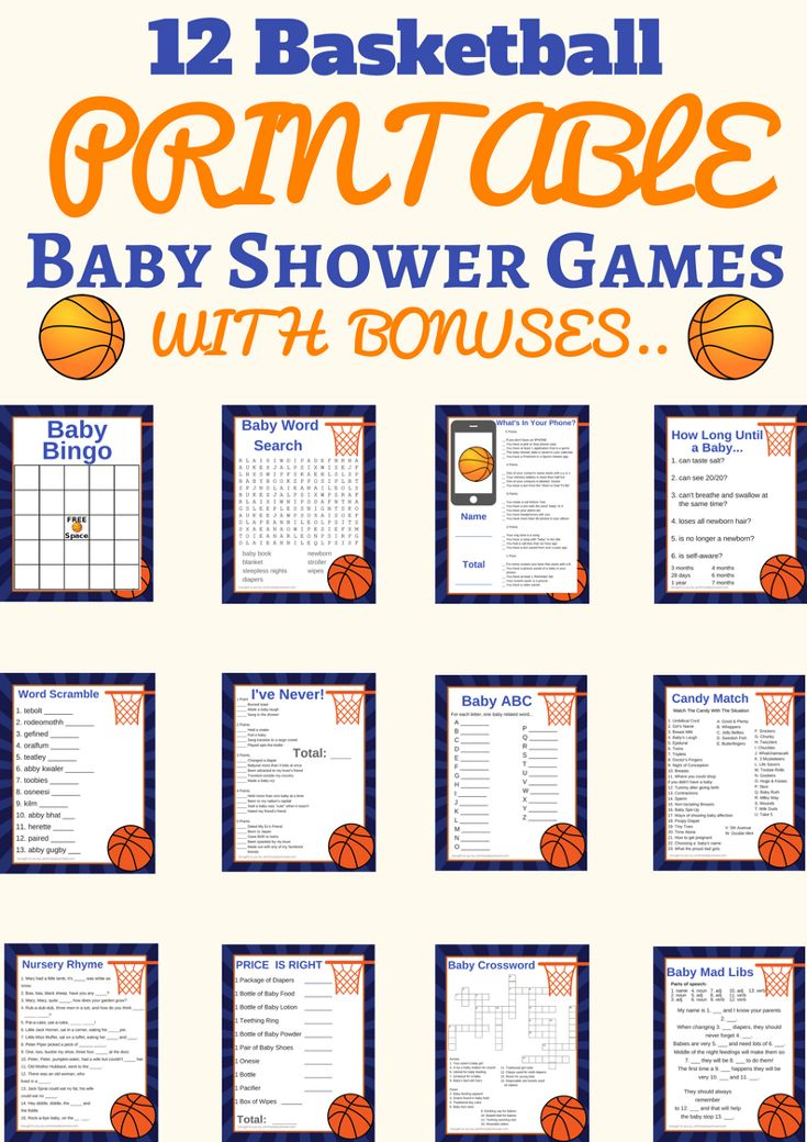 882 Best Printable Baby Shower Games Ideas Images On