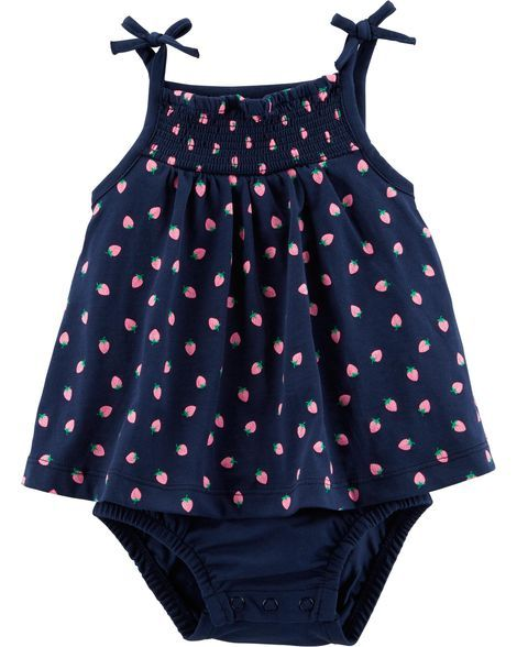 65d648ccd Baby Girl Strawberry Tank Sunsuit from Carters.com. Shop clothing &  accessories from a trusted name in kids, toddlers, and baby clothes.