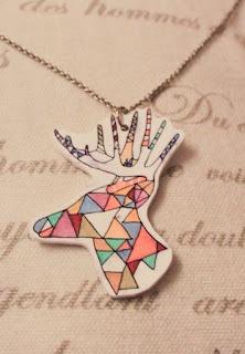 RETRO-pasteller    Deer neacklace