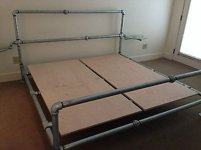 What a Great Industrial bed to make! .....you could spray paint it..Any color!!!