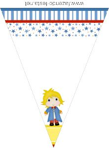 The Little Prince free printable bunting.
