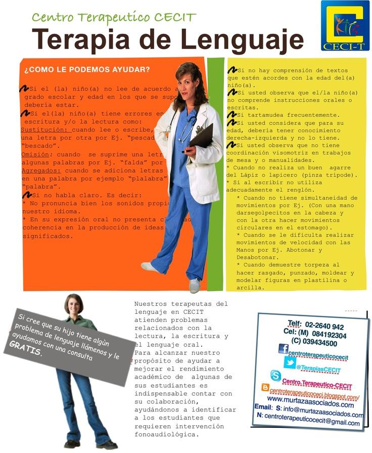 Terapia del Lenguaje y Fonoaudiología.