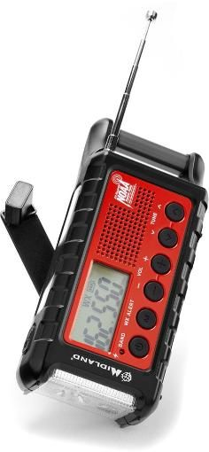 The Midland ER310 Emergency Crank Radio keeps you in the know when it comes to severe weather. In addition to digital AM and FM, it features weather band with NOAA Weather Alert Radio capabilities. Available at REI, 100% Satisfaction Guaranteed.