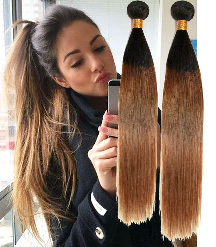 16 best ombre hair extensions images on pinterest wig blondes 1b427 3tone ombre silky straight real human hair extension 7a haar weaves pmusecretfo Choice Image