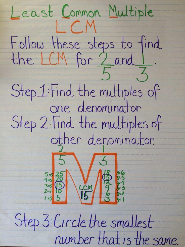 Homework help least common multiple