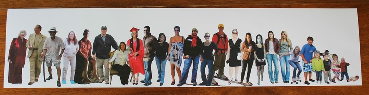 cute idea for Great Grandma:  Print and cut out every person in the family and glue on a canvas...sisters, brothers, cousins, aunts and uncles